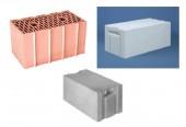 Materiál na obvodové a priečkové murivo a stropy